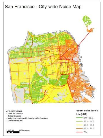 San Francisco noise map