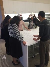 Working hard at Gensler Oakland! / Credit: Fabiola Hernandez, IIDA Associate, LEED AP ID+C