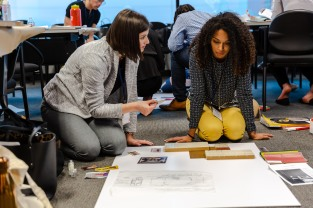 Select students were invited to participate in the Student Design Charrette. Photo: Guillermo Antonio